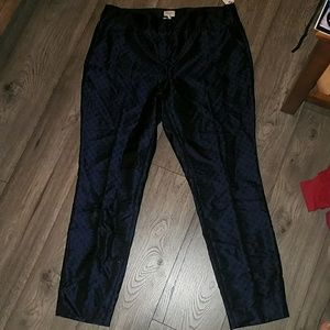 Laundry shelli segal pants dark blue and black 14